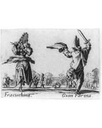 Fracischina with Tamborine Dancing with ... by Callot, Jacques