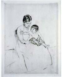 The Stocking, Photographs 3B47994R by Cassatt, Mary