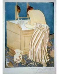 Woman Bathing, Photographs 3B52333R by Cassatt, Mary