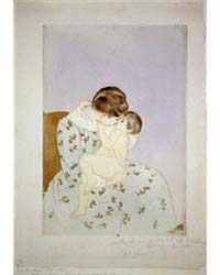 Mother's Kiss, Photographs 3B52829R by Cassatt, Mary
