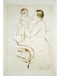 Mother Marie Dressing Her Baby After Its... by Cassatt, Mary