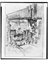 The Bridges from Brooklyn, Photographs 3... by Pennell, Joseph