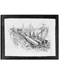 Submarines in Dry Dock, Photographs 3C19... by Pennell, Joseph
