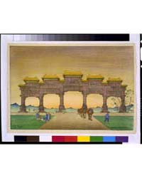 Peking, Gateway to Ming Tombs, Photograp... by Bartlett, Charles William