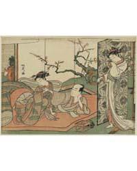 Futon No Ue No Sinzou to Sore O Nagameru... by Kitao, Shigemasa