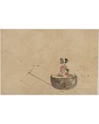 Flower or Vegetable in a Flowerpot, Phot... by Katsushika, Hokusai