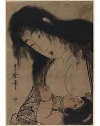 Yamauba No Chichi O Suh Kintaro, Photogr... by Kitagawa, Utamaro