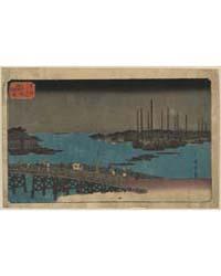 Eitaibashi Tsukuda Oki Isaribune, Photog... by Andō, Hiroshige
