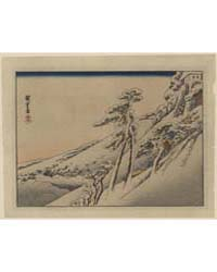 Pilgrims Ascending Snow-covered Hillside... by Andō, Hiroshige