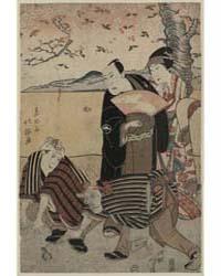 Yakusha No Hanami, Photograph 00579V by Shunkosai, Hokushū