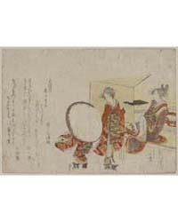 Hikitejaya Mae No Yuki Usagi, Photograph... by Katsushika, Hokusai