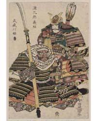 Genkurō Yoshitsune to Musashibō Benkei, ... by Utagawa, Toyokuni