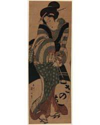 Chōchin O Motsu Onna, Photograph 00770V by Kikukawa, Eizan