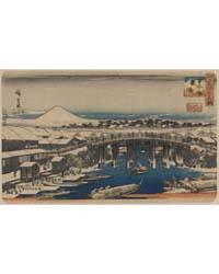 Nihonbashi Yukibare, Photograph 00874V by Andō, Hiroshige