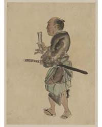 Man with a Sword Walking Toward the Left... by Library of Congress
