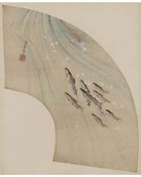 Fan-shaped Drawing of Fish Swimming Upst... by Library of Congress