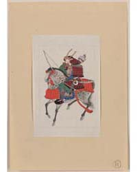 Samurai on Horseback, Wearing Armor and ... by Library of Congress