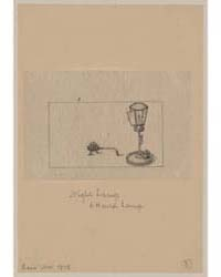 Night Lamp & Hand Lamp, Photograph 01105... by Library of Congress