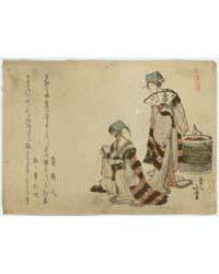Yoshiwara Suzume, Photograph 01453V by Katsushika, Hokusai