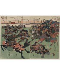 Taikenmon Genpei Kassen No Zu, Photograp... by Utagawa, Toyokuni