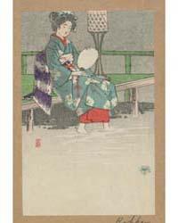 Kamogawa No Yūsuzumi, Photograph 01818V by Otake, Kokkan