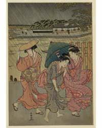 Uchū Sanbijin, Photograph 02049V by Katsukawa, Shunchō