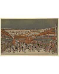 Ukie Wakoku No Keiseki Shin-yoshiwara Na... by Utagawa, Toyoharu