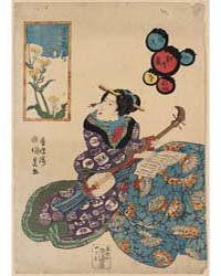 Nanohana Ni Chō, Photograph 02361V by Utagawa, Toyokuni