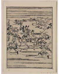 Scenes Related to the Soga Family, a War... by Hishikawa, Moronobu