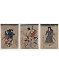Kurando Yukinaga Saitō Go Kunitake Onnag... by Utagawa, Kuniyoshi