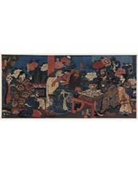 Kada Hone O Kezurite Kan'U Yakizu O Ryōj... by Utagawa, Kuniyoshi