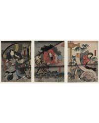 Hachimantarō Yoshiie Abe Sadatō : Sadatō... by Utagawa, Toyokuni