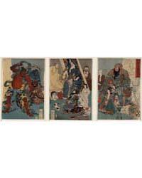 Meiyo Migi Ni Tekinashi Hidarijingorō, P... by Utagawa, Kuniyoshi