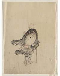 Rear View of a Traveler or Monk Wearing ... by Katsushika, Hokusai