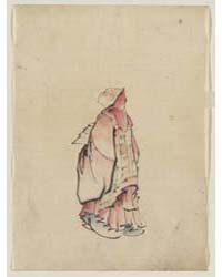Side View of a Monk, Full-length Portrai... by Katsushika, Hokusai