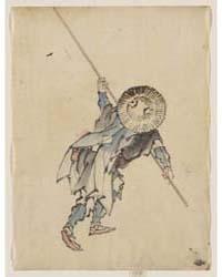 Rear View of a Man, Full-length, Standin... by Katsushika, Hokusai