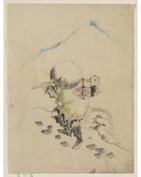 A Man, Wearing a Conical Hat, a Straw or... by Katsushika, Hokusai