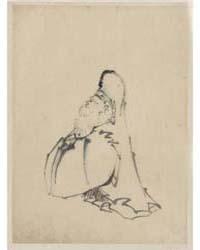 Fukurokuju, the God of Wisdom, Wealth, L... by Katsushika, Hokusai
