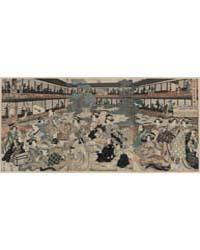 Shin Yoshiwara Ōgiya Zashiki No Zu, Phot... by Kikukawa, Eizan
