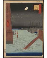 Eitaibashi Tukudajima, Photograph 02939V by Andō, Hiroshige