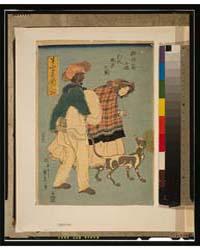 Furansu Komusume Inu O Hikite Sampo No Z... by Utagawa, Sadahide