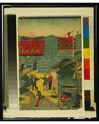 Village Scene in Japan Showing People En... by Library of Congress