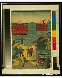 Village Scene in Japan Showing People En... by Library of Congress