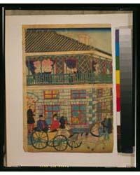 Yokohama Kaigan Kakkoku Shōkan Zu, Photo... by Utagawa, Hiroshige