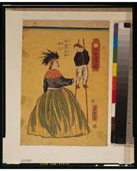 Gaikokujin Yūkō No Zu, Amerika Nyonin, P... by Utagawa, Yoshitora