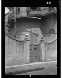 Outer Court of the Old Louisiana Bank, 4... by Genthe, Arnold