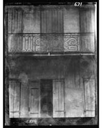 Facade of a Building with Shuttered Door... by Genthe, Arnold