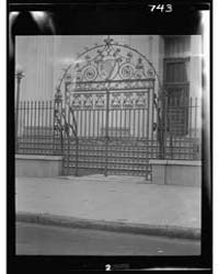 Wrought Iron Gate of the Hibernian Hall,... by Genthe, Arnold