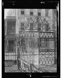 Park Gate and Houses, New Orleans or Cha... by Genthe, Arnold