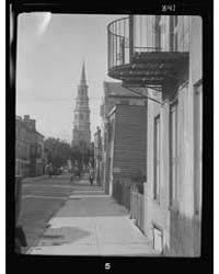 View Down Street to St. Philip's Church,... by Genthe, Arnold